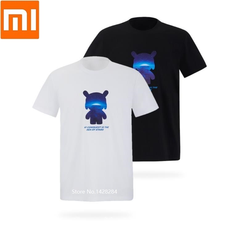 Xiaomi MITOWN LIFE Fashion Trend mitu short-sleeved T-shirt Soft skin Round neck Cotton Cool and comfortable Summer dressXiaomi MITOWN LIFE Fashion Trend mitu short-sleeved T-shirt Soft skin Round neck Cotton Cool and comfortable Summer dress