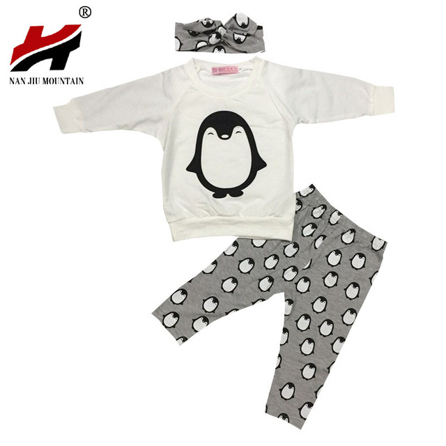 43bc964fd404 2017 Baby Girl Clothes Fashion Cotton Long Sleeve T Shirt+Pants ...