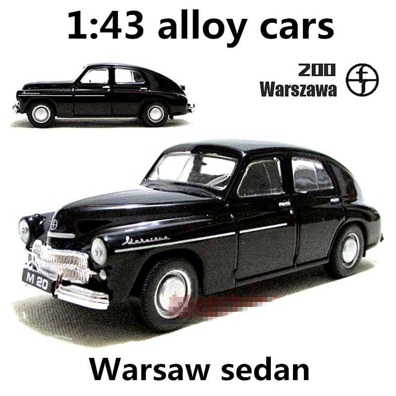 1:43 Alloy Car, Warsaw Sedan High Simulation Car Model, Metal Diecasts, Coasting, The Children's Toy Vehicles, Free Shipping