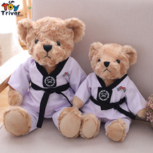 Plush Tae Kwon Do Teddy Bear Toy Stuffed Bears Doll Baby Kids Children Student Birthday Gift Triver brown teddy bear plush toy triver bears stuffed animal doll toys baby kids children birthday promotional gift
