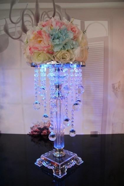 6pcs 38 5cm Tall Acrylic Crystal Wedding Centerpiece Pillars For Decoration