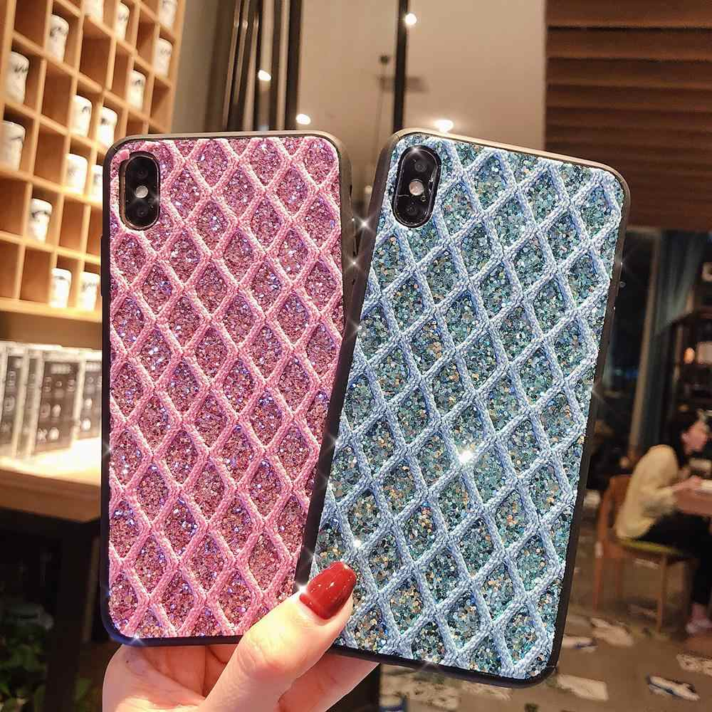 Для iPhone 7 8 6s плюс XS Max X XR чехол Блестящий Алмаз задняя крышка для samsung S10 S8 S9 плюс A50 huawei P30 Pro Капа