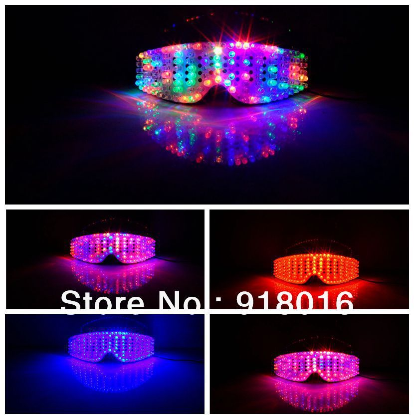 0139a9f5398 Cable Colorful RGB led glasses  performance props   luminous glasses on  Aliexpress.com