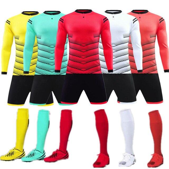 aa657b3f0 2019 new kids adult boys football kits Long sleeve short clothes kids soccer  adult uniforms kids sweatsuit tracksuit QD 001