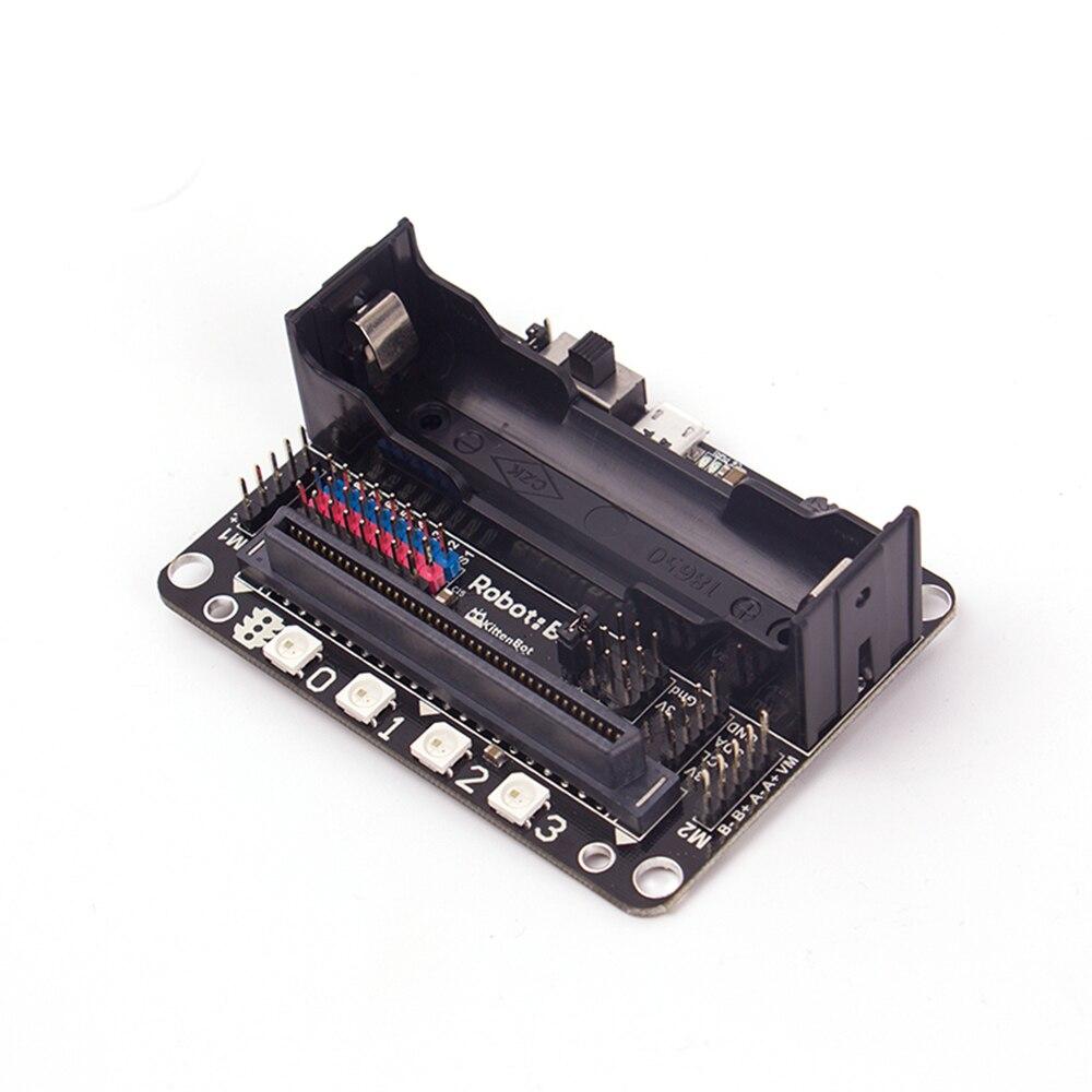 Micro: бит Плата расширения Совместимость разъем Поддержка нуля программирования Python введение с 18650 литиевая Батарея ...
