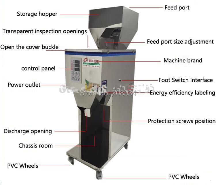 Купить с кэшбэком Medicine filling machine food filling machine.10-999g Large-scale of quantitative machines, automatic powder filling ma
