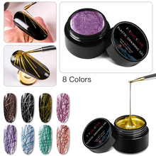 T-TIAO CLUB 2/3/6 Pcs/Set Spider Gel Nail Polish Elastic Drawing Manicure UV Varnish Art 5ml DIY Lacquer