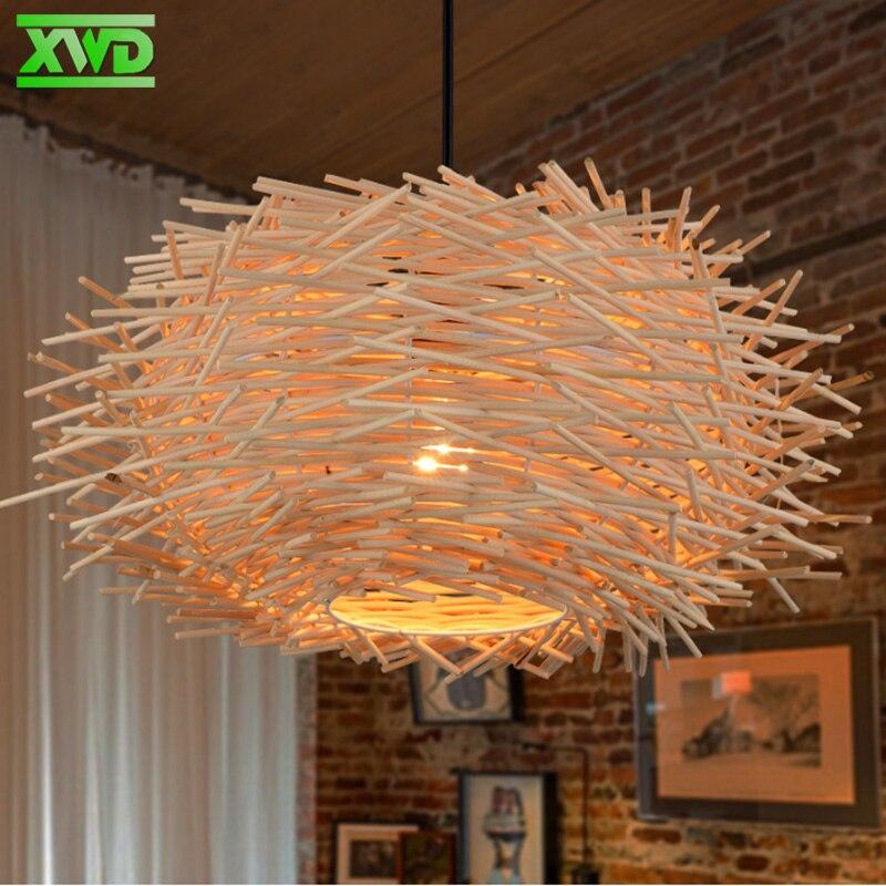 Estilo Rural Nido de Pájaro W lámpara colgante Casa de café/comedor/vestíbulo E27 titular de la lámpara 110-240 V iluminación de interiores envío gratis