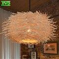 Estilo rural w lâmpada pingente de ninho de pássaro casa de café/sala de jantar/hall de entrada e27 suporte da lâmpada de 110-240 v iluminação interior free grátis