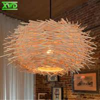 Nido de Pájaro de estilo Rural W lámpara colgante Cafetería/comedor/vestíbulo E27 portalámparas 110-240V iluminación interior envío gratis