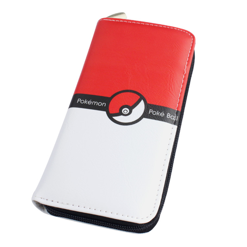 2016 New Pokemon Go Wallet Elf Ball Poke Ball Purse Female Cards Holders PU Wallet Coin Purses girl Long Wallet lady Wallets