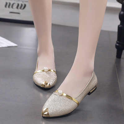 51debecd47 Detail Feedback Questions about 2018 new golden wedding shoes female ...