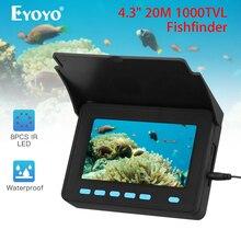 Eyoyo обновленная подводная видеокамера 20 м, камера для ледовой рыбалки, рыболокатор IP68, инфракрасный светодиодный аккумулятор 10000 мАч