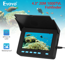 Eyoyo Updated 20M Underwater Video Camera Ice fishing CAM fish finder IP68 Infrared LED 10000mah Battery camara pesca zlm fishing underwater camera video recording infrared led ice fishing camera dual cam 20m cable 720p fishing finder camera