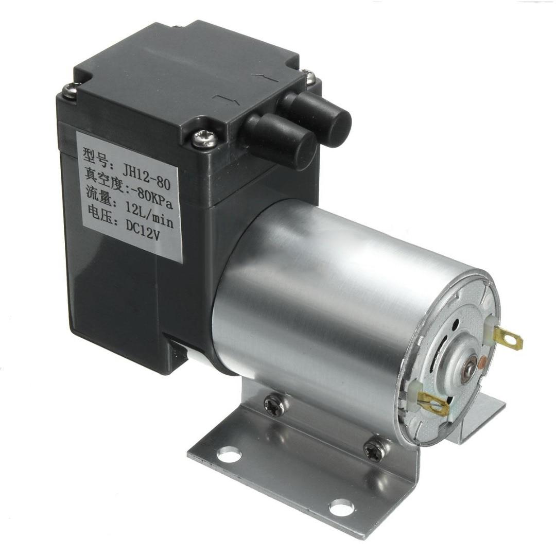 цена на 1pc 12L/min 120kpa Micro Air Vacuum Pump DC12V 6W Negative Pressure Pump with Pipe