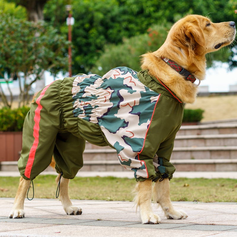 Pet Big Dog Raincoat Jumpsuit Waterproof Breathable Clothes For Medium Large Girl Dogs Rain Coat Golden Retriever Labrador Cloak
