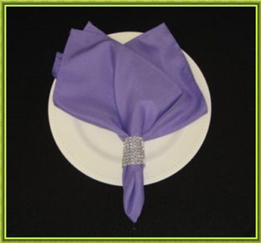 Marious Brand Big discount !! 100pcs banquet plain satin table napkin from nantong china FREE SHIPPING