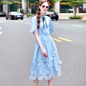 Женское винтажное платье в стиле бохо, вечерние ажурные платья с вышивкой, весна-лето 2019