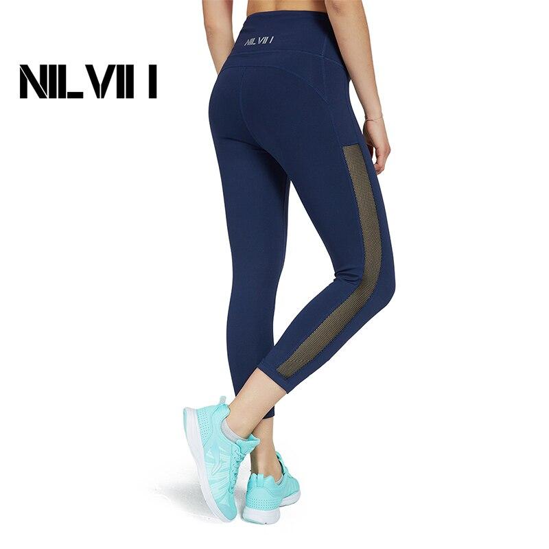 Women's Running Pants Capri Yoga Legging Training Tights