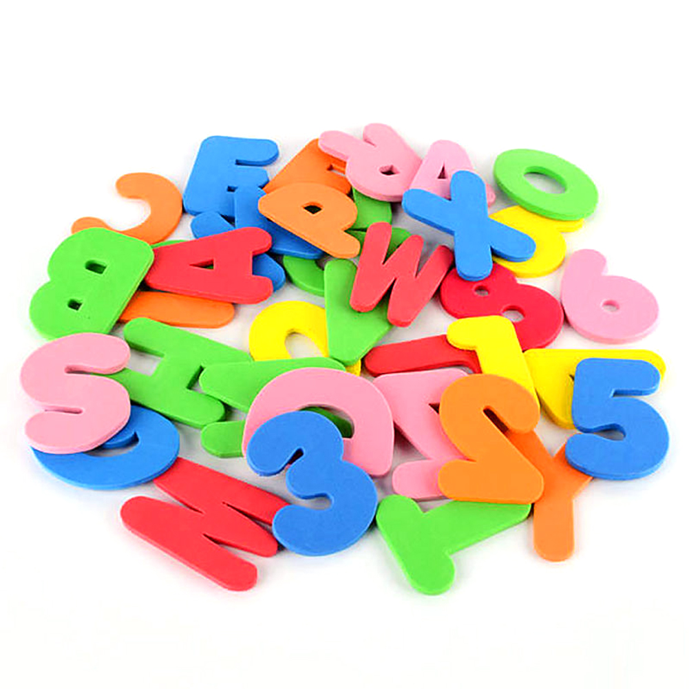 36pcs Bath Self-adhesive Foam Non-toxic Colorful Toy Learn Letters And Numbers Soft Baby Educational Bathtub