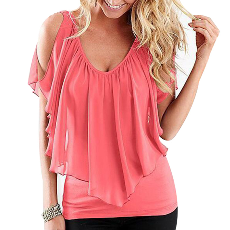 Sexy Off Shoulder Summer Style T-Shirt 2s
