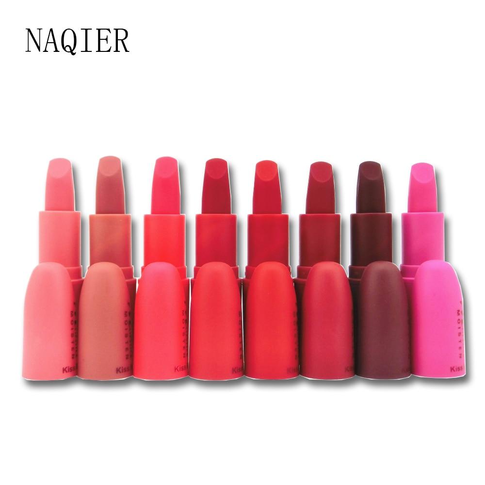 NAQIER Fashion 8 Colors Beauty Red Lips Baton Matte Lip Stick Waterproof...