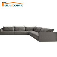 Роскошные диваны современная мебель ткани скандинавский диван корейский Гостиная мебель перо итальянский уголок секционный