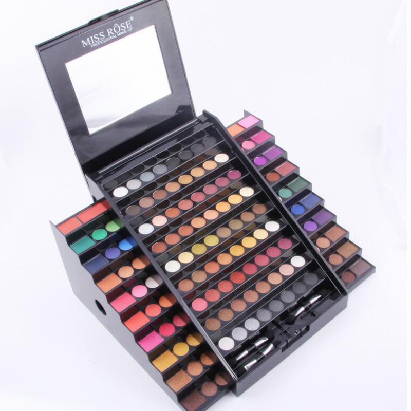 MISS ROSE Professional 130 Colors Beauty Eyeshadow Palette Shimmer Eye Shadow Matte Natural Make Up Kit Women Cosmetic Makeup 35 color plum eyeshadow palette professional matte shimmer eye shadow cosmetics make up for eyes