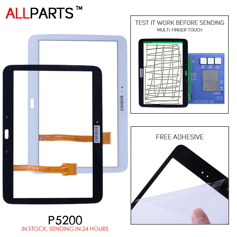 TESTED Black White Tablet Touch Screen For SAMSUNG GALAXY Tab 3 10.1 GT-P5200 P5200 Touch Screen Digitizer GT-P5210 P5210