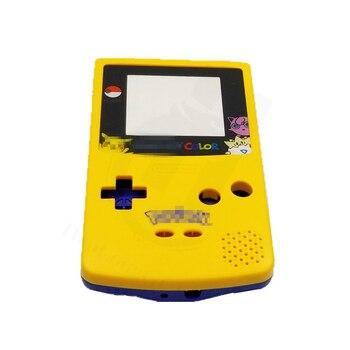 Funda de juego DIY para P0kem0n Edición Limitada carcasa amarilla azul funda carcasa repuesto para Gameboy Color para GBC