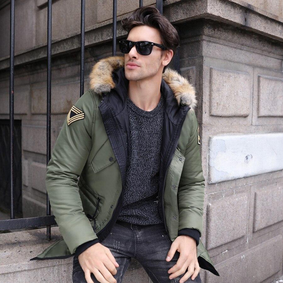 Mode Hiver À Capuchon Black Manteaux Survêtement blue Militaire Parka Green Vêtements Hommes Camo Style Mâle army J106 Chaud De Veste 2018 Épais dtgUqzz