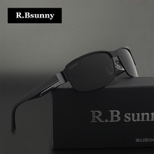 R.Bsunny HD Polarized Sunglasses Men Brand Designer Male Vintage Sun Glasses Driving fishing goggles with all Accessories R1606