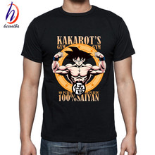 New Arrival DRAGON BALL Anime Print Tee Shirts Homme 2017 Soft Black Master Roshi T-shirts Men Dragon Ball Z Son Goku T shirt
