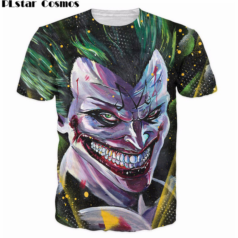 PLstar Cosmos Majin Joker T-Shirt Batman Dragonball Z crossover the Joker super saiyan t shirt Summer Style Women Men tees tops