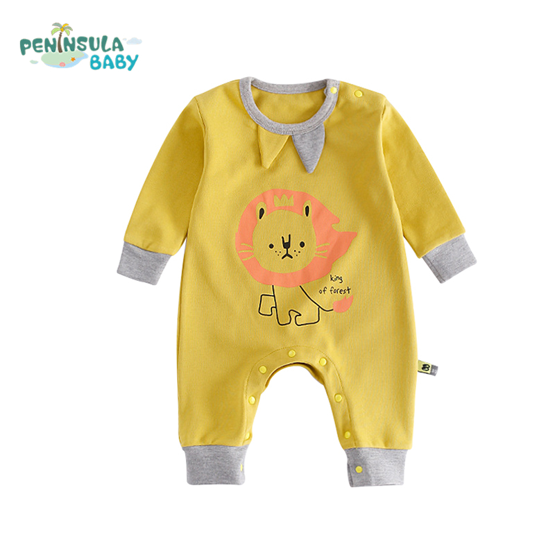 Cotton Newborn Baby Rompers Girls Boys Clothing Pajamas Cute Cartoon Lion Animals Long Sleeve Kids Infant Costumes Baby Product baby clothing infant baby kid cotton cartoon long sleeve winter rompers boys girls animal coverall jumpsuits baby wear clothes