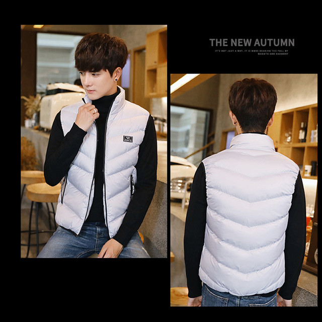 Mens Waistcoat Vest Winter 2019 Casual Quality Warm Windbreak Men's Sleeveless Jacket Outwear Coats Vest Fashion Brand Clothing