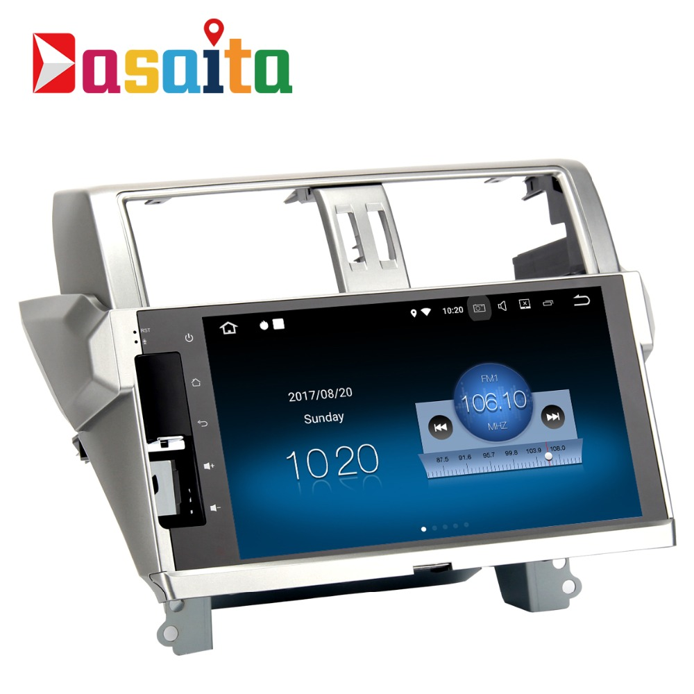 Dasaita 10.2 Android 8.1 Car GPS Player Nav for Toyota new Prado 150 2014 2015 with 2G+16G Quad Core Car Stereo Multimedia