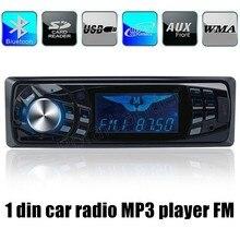 Alta calidad 1 din Radio de Coche Bluetooth Reproductor de MP3 12 V FM Estéreo del coche En El Tablero uno DIN Aux de Entrada remota control