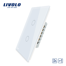 Livolo US standard Wall Light Touch Screen Switch, 2Gang 2Way ,with Remote Function AC 110~250V , VL-C502SR-11/12,Without Rmote