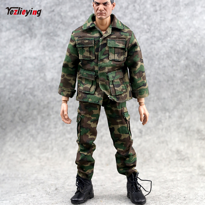 1/6 Scale Clothes accessories Jungle Camouflage Combat Uniforms Clothes suit For 12inch Phicen Male HT toys Action Figure doll