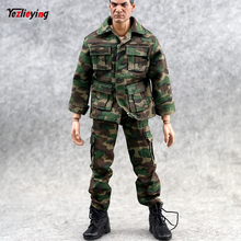 купить 1/6 Scale Clothes accessories Jungle Camouflage Combat Uniforms Clothes suit For 12inch Phicen Male HT toys Action Figure doll по цене 487.07 рублей