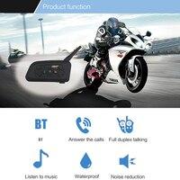 VNETPHONE Soft Headset 2 Pcs V6 Pro Motorcycle Helmet Bluetooth Headset Intercom BT Interphone For 6