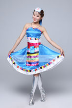 Ethnic Tibetan clothing dolma clothing women dance costume women's special dance skirt stage performance(China)