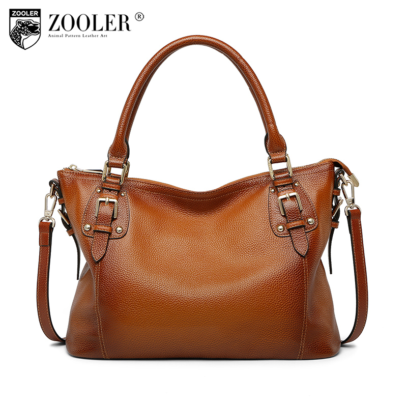 ZOOLER Brand Fashion Genuine Leather Shoulder Bags Handbags Women Famous Brands Tote Bag Ladies Messenger Bags Sac A Main 2018 zooler fashion chains high quality genuine leather bags handbags women famous brand ladies cowhide messenger shoulder bag bolsas