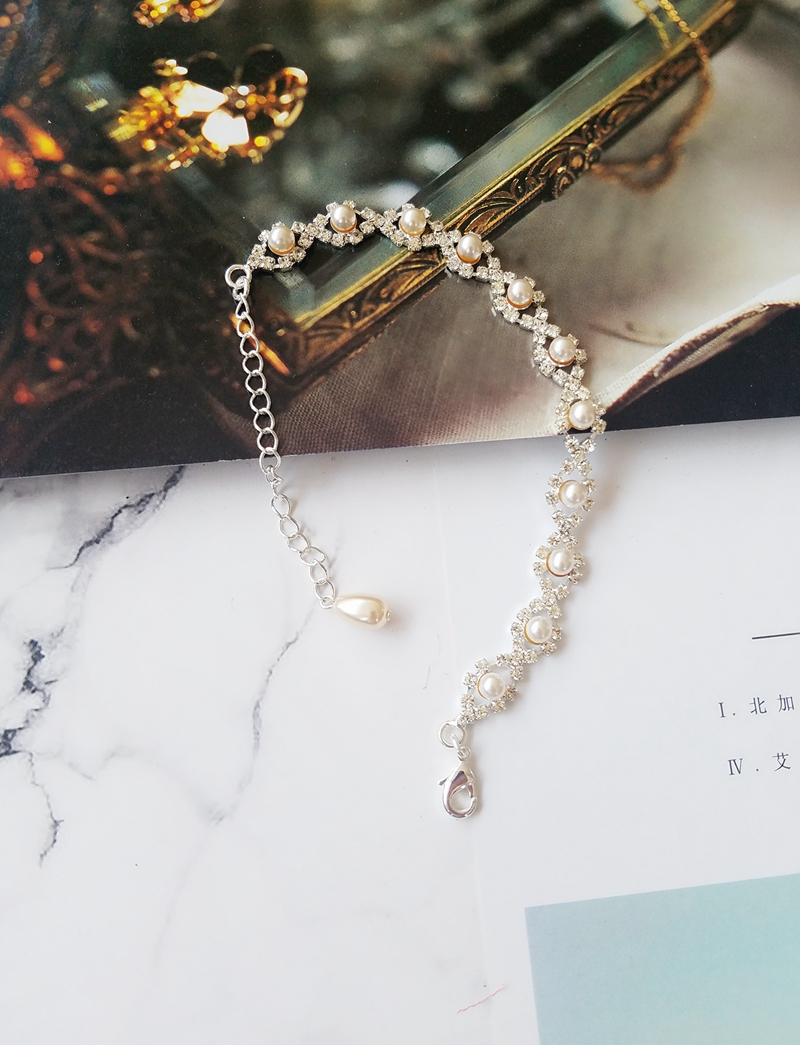 off-white color mini size artificial pearl beads bracelet Florkrris China factory goods