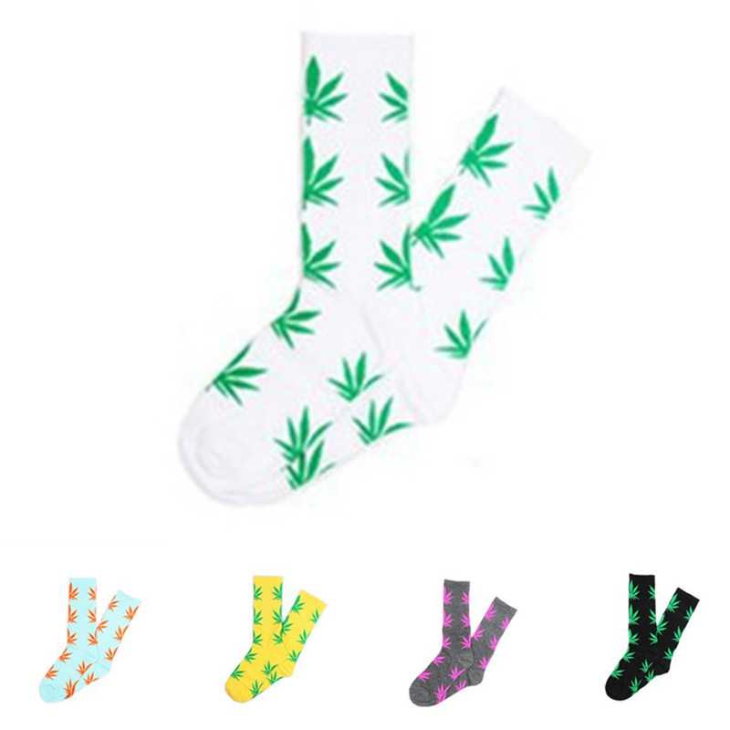 Winter high Quality Harajuku chaussette Style Weed Socks For Women Mens Cotton Hip Hop Socks Man Meias Mens Calcetines