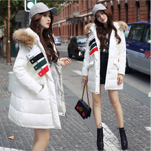 2017 winter lengthy heat temperament within the new vogue collars hooded girls's down jacket with thick coat
