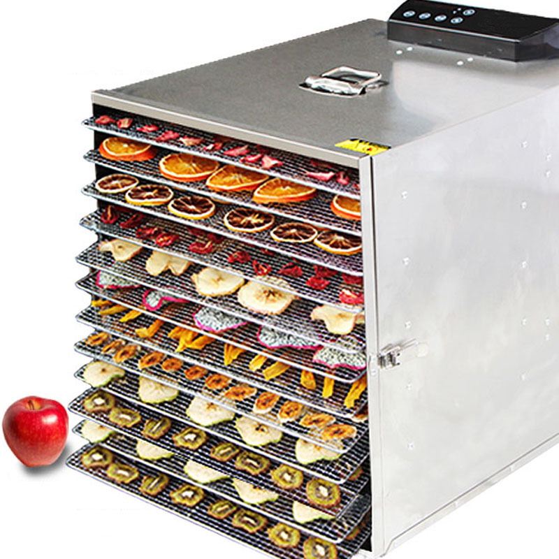 12 Layers Commercial Fruit Dryer Household Stainless Steel Food Vegetables Pet Meat Safe Air Dryer Smart Electric Dehydrator.