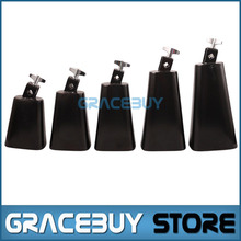 4/ 5/ 6/ 7/ 8 Inch Black Personalized Metal Cattlebell/ Cowbell NL4 NL5 NL6 NL7 NL8 Brass Cattle Cow Bell Percussion Instrument