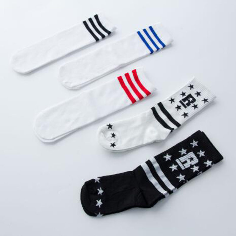 BAZZERY 30cm Unisex Hip Hop Dance Wear Socks Ladies Girls One Size Strips / Stars Cotton Socks